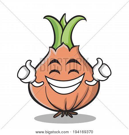 Proud face onion character cartoon vector illustration