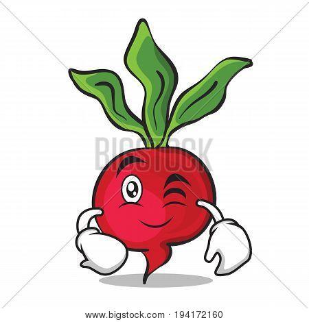 Wink radish character cartoon collection vector illustration
