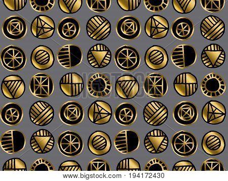 luxury hand drawn seamless pattern vector illustration