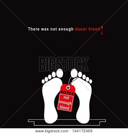 There was not enough donor blood. Vector