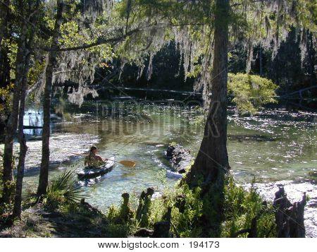 Kayaking Poe Springs River Run