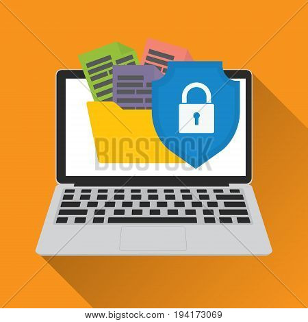 Data Secured Access Protection. Vector illustration online security system and cybercrime concept.