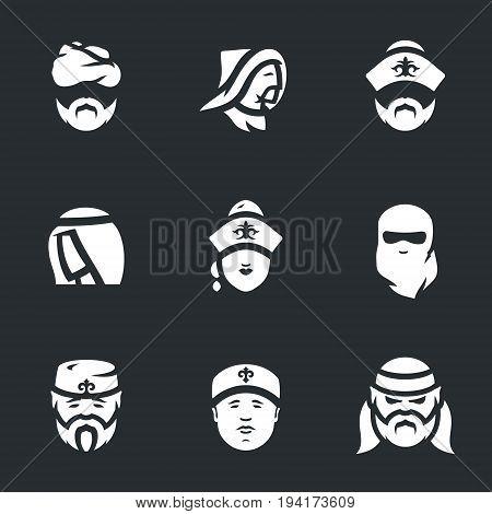 Bedouin, mongol, kazakh, arab, kyrgyz, paranja, tatar, uzbek, pirate.