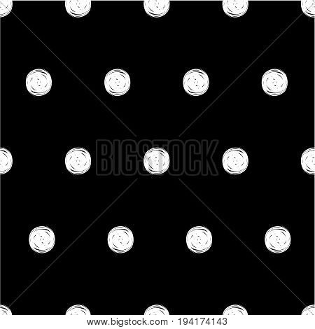 Seamless black and white pattern with dots