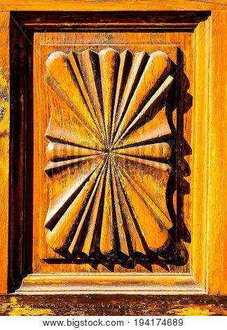 Wooden Sculpture Door