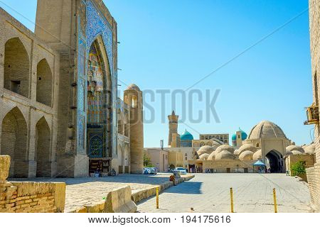 Madrasa And Bukhara Taqi Zargaron Bazaar, Uzbekistan