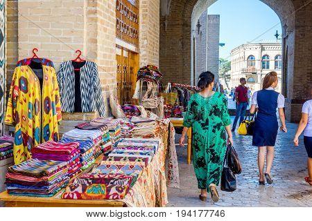 Street Bazaar In Bukhara, Uzbekistan