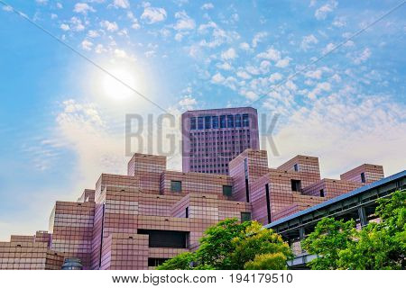 TAIPEI TAIWAN - MAY 31: This the world trade center whih was built to encourage international trade between Taiwan and other countries. It is situated in the downtown area on May 31 2017 in Taipei