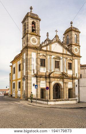 View at the church of Senhor Jesus da Pobreza in Evora - Portugal