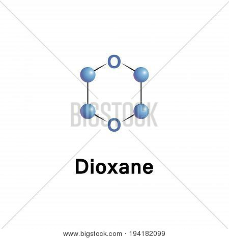Dioxane is a heterocyclic organic compound classified as an ether. It is a colorless liquid with a faint sweet odor similar to that of diethyl ether.