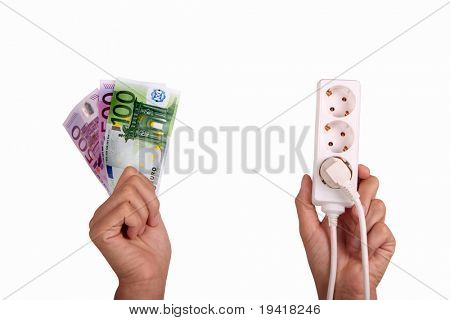 Metaphor of the rising power price