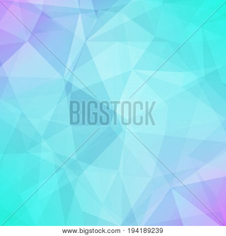 Gradient abstract square triangle background. Cool ice colored polygonal backdrop for business presentation. Soft gradient color transition for mobile application and web. Trendy geometric banner.