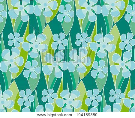 simple naive flowers seamlss pattern. floral vector illustration