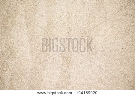 Beach Sand Background. Beautiful Texture Of Golden Sand Photographed In Close-up