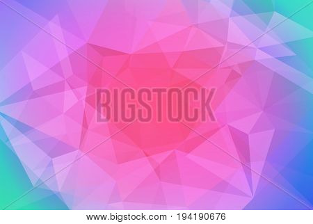 Gradient abstract horizontal triangle background. Vibrant rainbow multicolored polygonal backdrop for business presentation. Soft gradient color transition for mobile application and web.