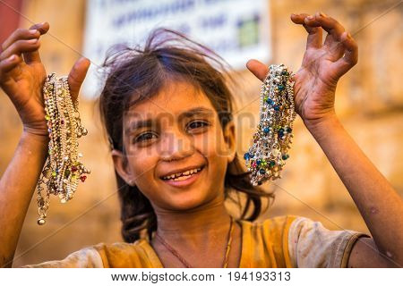 Indian child in Jaisalmer, India