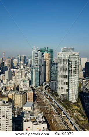 Cityscape Of Tokyo, Japan