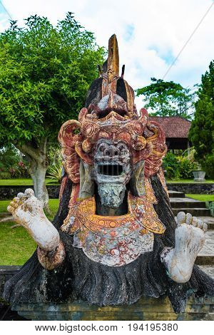 Statue At Tirta Gangga Water Palace In East Bali, Indonesia