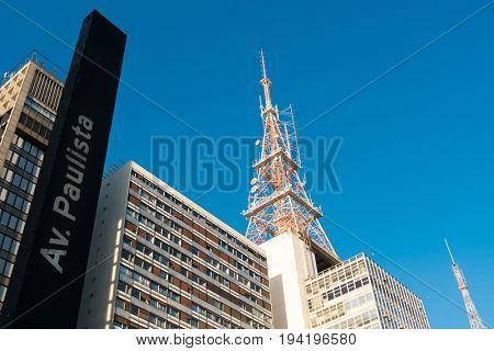 Modern Buildings in Paulista Avenue, Sao Paulo, Brazil