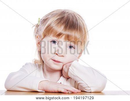 Pensive Little Girl