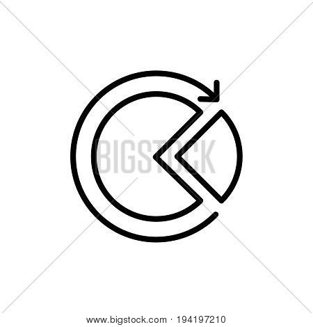Thin line data analysis icon. Vector illustration isolated on a white background. Simple outline pictogram of data analysis.