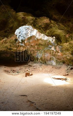 Quadirikiri Cave with a large chamber inside the cave.