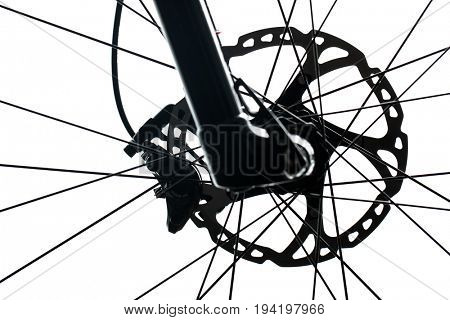 Modern MTB race mountain bike isolated on white in a studio