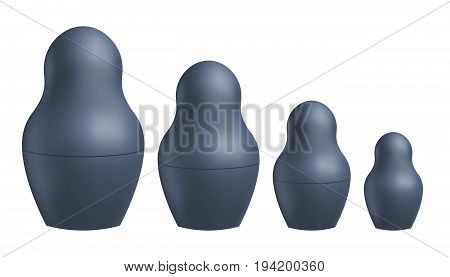 Russian nesting doll matrioshka vector. Realistic template. Symbol of Russia.