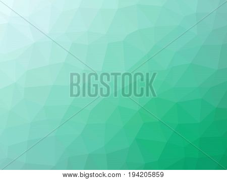 Green Teal Abstract Gradient Polygon Shaped Background