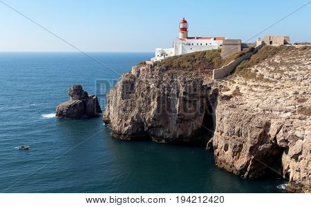 The lighthouse in Cabo da Roca, Portugal, Europe