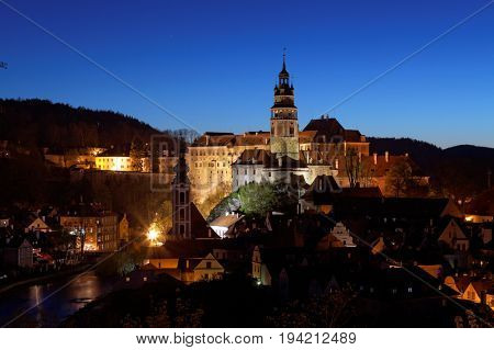 Cesky Kromlov in nights , Czech Republic