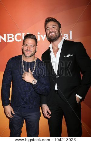 LOS ANGELES - MAR 20:  Ronnie Magro-Ortiz, Chad Johnson at the NBCUniversal Summer Press Day at Beverly Hilton Hotel on March 20, 2017 in Beverly Hills, CA