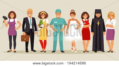 Set of people with different professions. Part 2. Vector illustration
