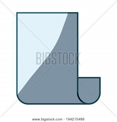 blue shading silhouette of continuously sheet vector illustration