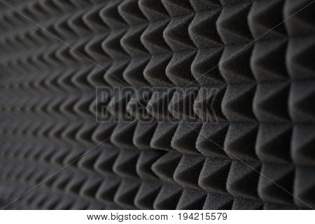 Acoustic foam. Soundproofing foam.Dark gray foam silencer
