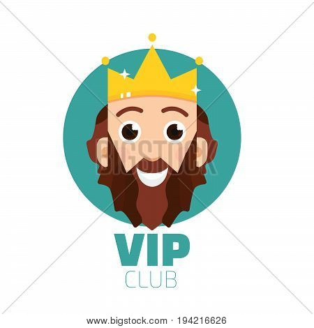 VIP club logo. VIP Club members only logo. Diadem vector logo. King logo vector.
