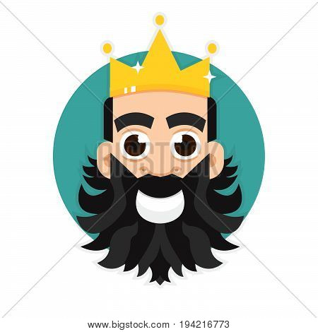 King logo. King icon, crown. Vector illustration