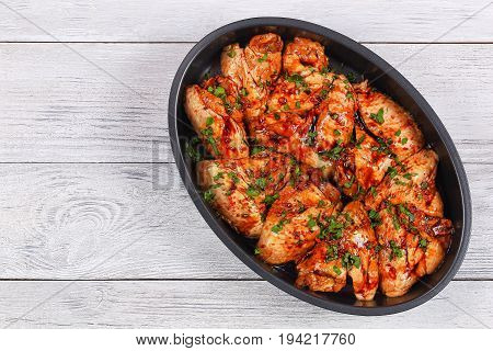 Raw Chicken Wings  Prepared For Roast