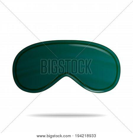 Eye Sleep Mask. Vector Isolated Illustration. Classic Sleeping Mask