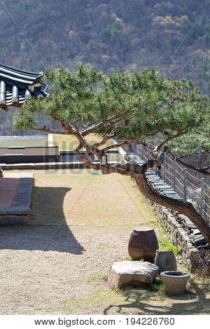 Landscape in traditional Korean village at Wanju County South Korea