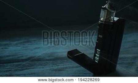 Vaporizer On A Blue Background