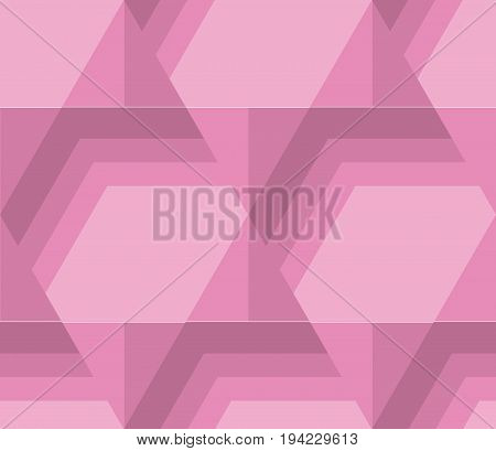 pastel pale color hexagon tile. vintage retro style geometry seamless pattern. vector illustration of repeatable motif