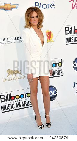 LAS VEGAS - MAY 20:  Miley Cyrus at the 2012 Billboard Music Awards at the MGM Grand Garden Arena on May 20, 2012 in Las Vegas, NV