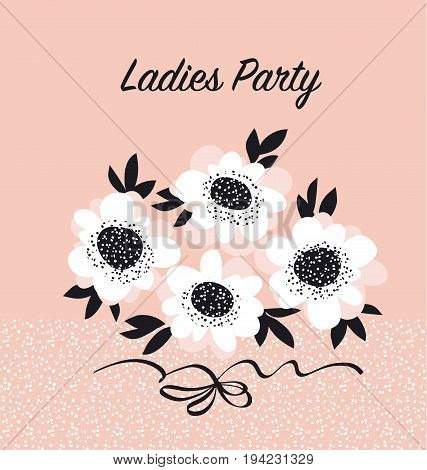 pale color abstract rose flowers. vector sketch illustration