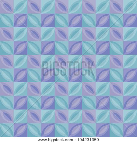 pastel pale color tender tile. vintage retro style geometric seamless pattern. vector illustration of repeatable motif