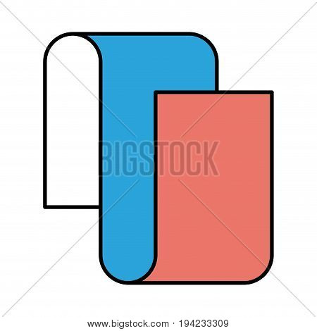 silhouette color sections of continuously long sheet in closeup vector illustration