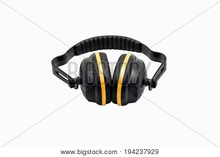 Front view image of ear muff with a white background