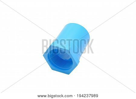 Image of PVC screw joint with a white background