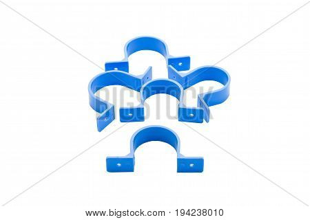 Group of PVC anchor with a white background.