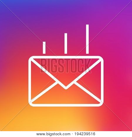 Isolated Mail Outline Symbol On Clean Background. Vector Post Element In Trendy Style.